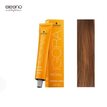 رنگ موی ایگورا رویال فشن لایت Igora Royal Fashion Light L-57 طلایی مسی