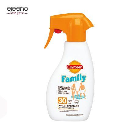 اسپری شیر محافظتی خانواده Carroten Suncare Milk Spray SPF 30