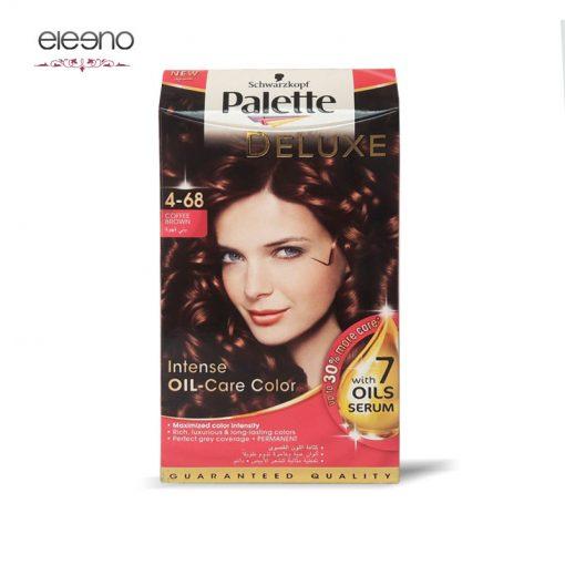 کیت رنگ موی پالت قهوه ای متوسط شکلاتی Palette Deluxe 4-68