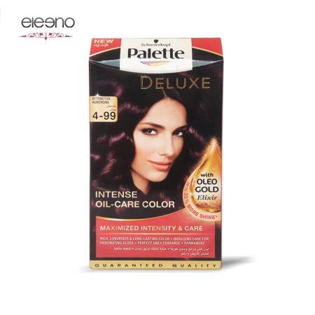 کیت رنگ موی پالت بامجانی Palette Deluxe 4-99