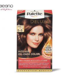 کیت رنگ موی پالت قهوه ای کاراملی براق Palette Deluxe 5-5