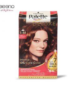 کیت رنگ موی پالت قهوه ای متوسط فندقی Palette Deluxe 5-68