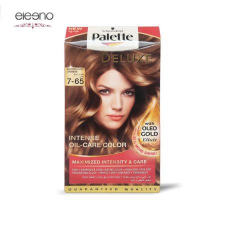 کیت رنگ موی پالت بلوند طلایی دارچینی Palette Deluxe 7-65