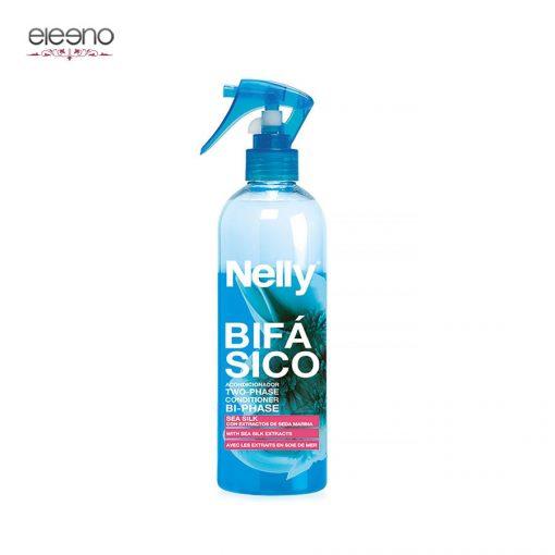 اسپری دو فاز احیا کننده مو نلی Nelly With Sea Silk Extracts Two Phase حاوی ابریشم دریایی