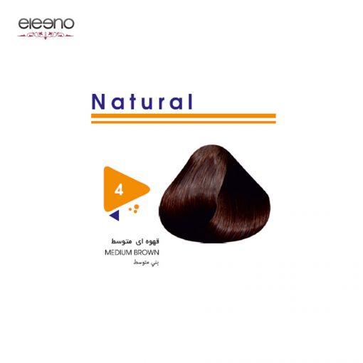 رنگ موی ویتامول شماره 4 طبیعی